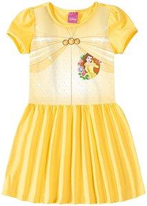 Vestido da Princesa Bela - Princesas da Disney - Amarelo - Malwee