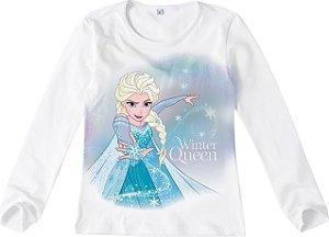 Blusa Rainha Elsa - Disney Frozen - Branca - malwee
