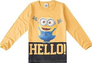 Camiseta Minions - Hello - Amarela