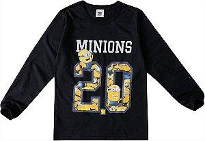 Camiseta dos Minions - Meu Malvado Favorito - Preta - Malwee