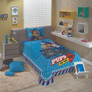 Jogo de Cama Patrulha Canina - Chase - Marshall - 2 Peças - Azul - Lepper