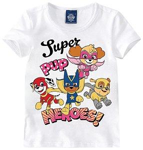 Blusa Patrulha Canina Super Heroes - Branca - Malwee