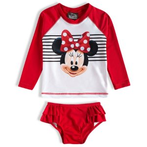 Conjunto Proteção UV 50 FPS  - Minnie - Disney - Vermelho
