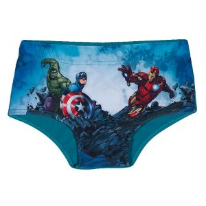 Sunga Infantil Avengers Azul Turquesa - Tiptop
