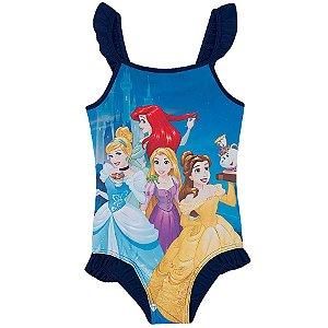 Maiô Princesas da Disney  - Azul Marinho - Tiptop