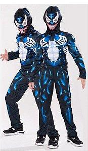 Fantasia Infantil Venom - Preta e Azul