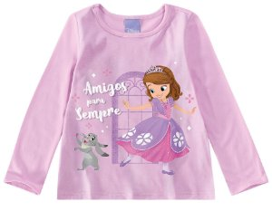 Blusa Infantil Princesa Sofia Disney - Lilás - Malwee