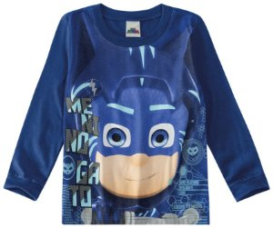 Blusa Equipe Heróis PJ Masks - Azul - Malwee