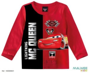 Blusa Mcqueen - Carros - Vermelha - Malwee