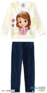Conjunto de Blusa e Calça de Moleton - Princesa Sofia - Disney