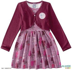 Vestido Frozen 2 Com Bolero - Disney - Lilás - Malwee