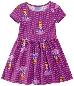 Vestido Princesa Sofia - Disney - Lilás - Malwee