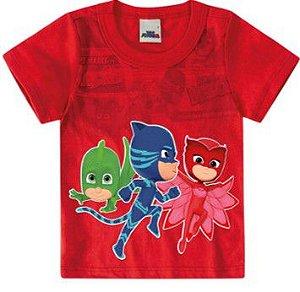 Camiseta PJ Masks - Vermelha