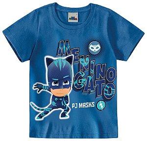 Camiseta Menino Gato - PJ Masks - Brilha no Escuro