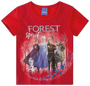 Blusa da Frozen 2 - Disney - Vermelha - Malwee