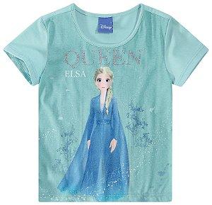 Roupa da Elsa - Blusa da Elsa - Frozen 2 - Azul - Malwee
