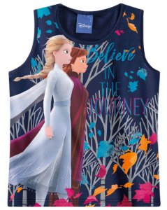Blusa Frozen 2 - Disney - Azul Marinho - Malwee