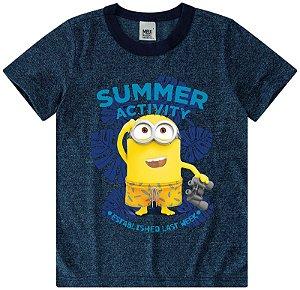 Camiseta dos Minions - Azul Washed - Meu Malvado Favorito - Malwee
