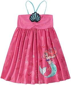 Vestido Princesa Ariel Disney - Rosa - Malwee