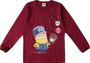 Camiseta Minions - Bordô - Meu Malvado Favorito - Malwee
