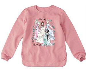 Moletom Felpado Princesas da Disney - Rosa - Malwee