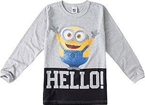 Camiseta Minions - Meu Malvado Favorito - Cinza - Malwee