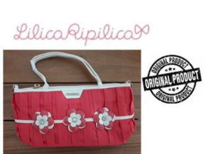 Bolsa Lilica Ripilica - Flores - Vermelha