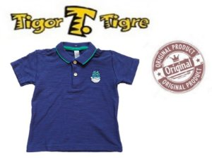 Camisa Polo do Tigor T Tigre Baby - Azul Royal