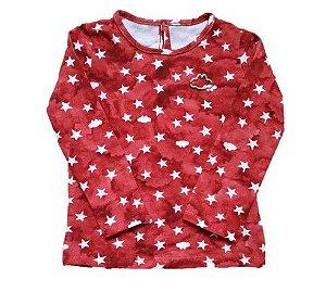 Blusa Infantil - Vermelha - Lilica Ripilica - Estrelas