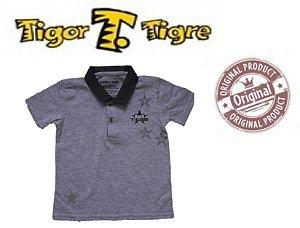 Camisa Polo do Tigor T Tigre Baby - Cinza Mescla
