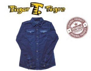 Camisa Tigor T Tigre - Azul Washed