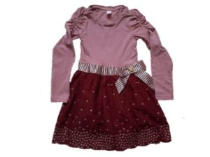 Vestido Infantil Lilica Ripilica - Lilás e Bordô