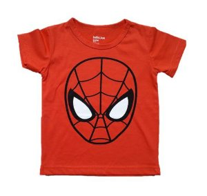 Camiseta Homem Aranha - Laranja Escuro