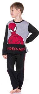 Pijama Infantil Homem Aranha Preto - Marvel