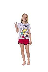 Pijama Short Doll Turma da Mônica - Amigos da Floresta - Juvenil