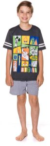 Pijama Juvenil Menino Mickey Azul - Coleção Pai e Filho