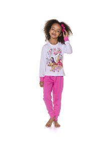 Pijama Infantil Princesas da Disney - Rosa e Branco