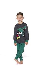 Pijama do Mickey e Dinossauro - Disney - Verde e Cinza