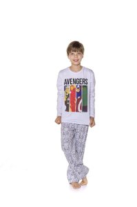 Pijama Juvenil Avengers Marvel - Cinza