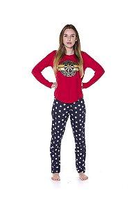 Pijama Capitã Marvel - Adulto