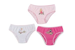 Kit de 3 Calcinhas das Princesas da Disney