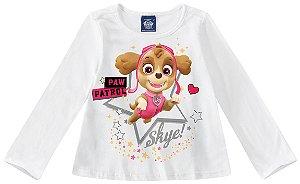Blusa Infantil Skye Patrulha Canina - Branca - Malwee