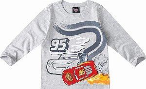 Camiseta Infantil Carros Cinza - Malwee