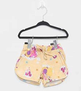 Shorts das Princesas da Disney - Amarelo