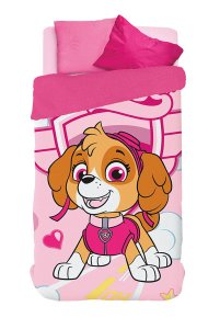 Coberdrom Dupla Face da Skye - Patrulha Canina - Rosa - Lepper