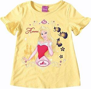 Blusa  Infantil Princesa Aurora  Amarela - Malwee