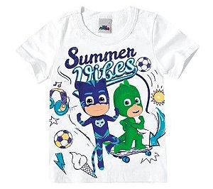 Camiseta PJ Masks - Branca - Malwee