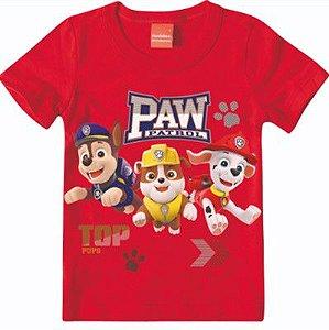 Camiseta Patrulha Canina - Chase, Marshall e Rubble - Vermelho - Malwee