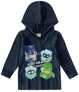 Blusa PJ Masks Com Capuz - Azul Marinho - Malwee