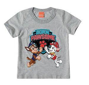 Camiseta Patrulha Canina - Cinza - Malwee